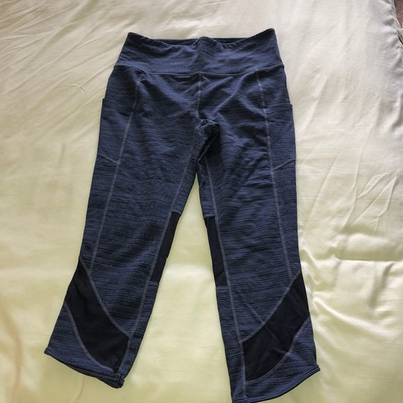 Athleta yoga pants blue size medium